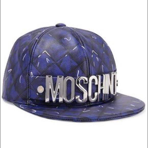 f720c0b1b838d Moschino Embellished printed leather baseball cap